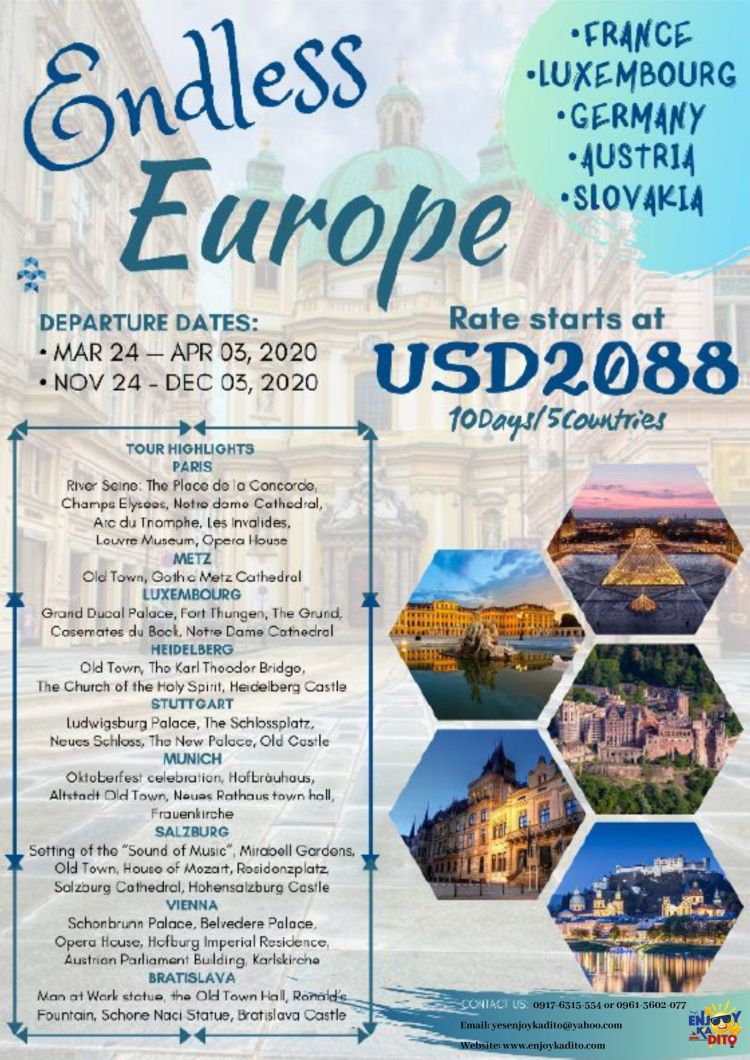 Endless Europe by MCP Greenery Travel and Tours
