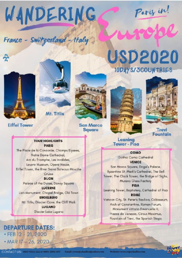 Europe Feb.-March by MCP Greenery Travel and Tours