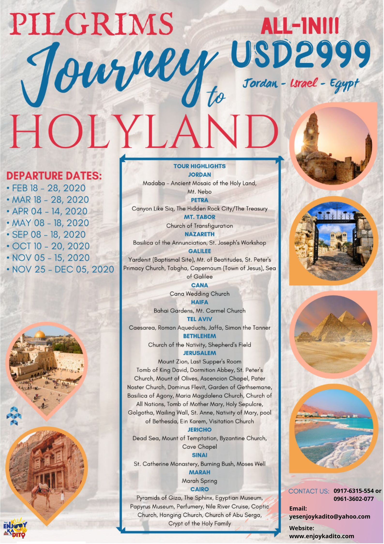 HolyLand Feb-Dec by MCP Greenery Travel and Tours