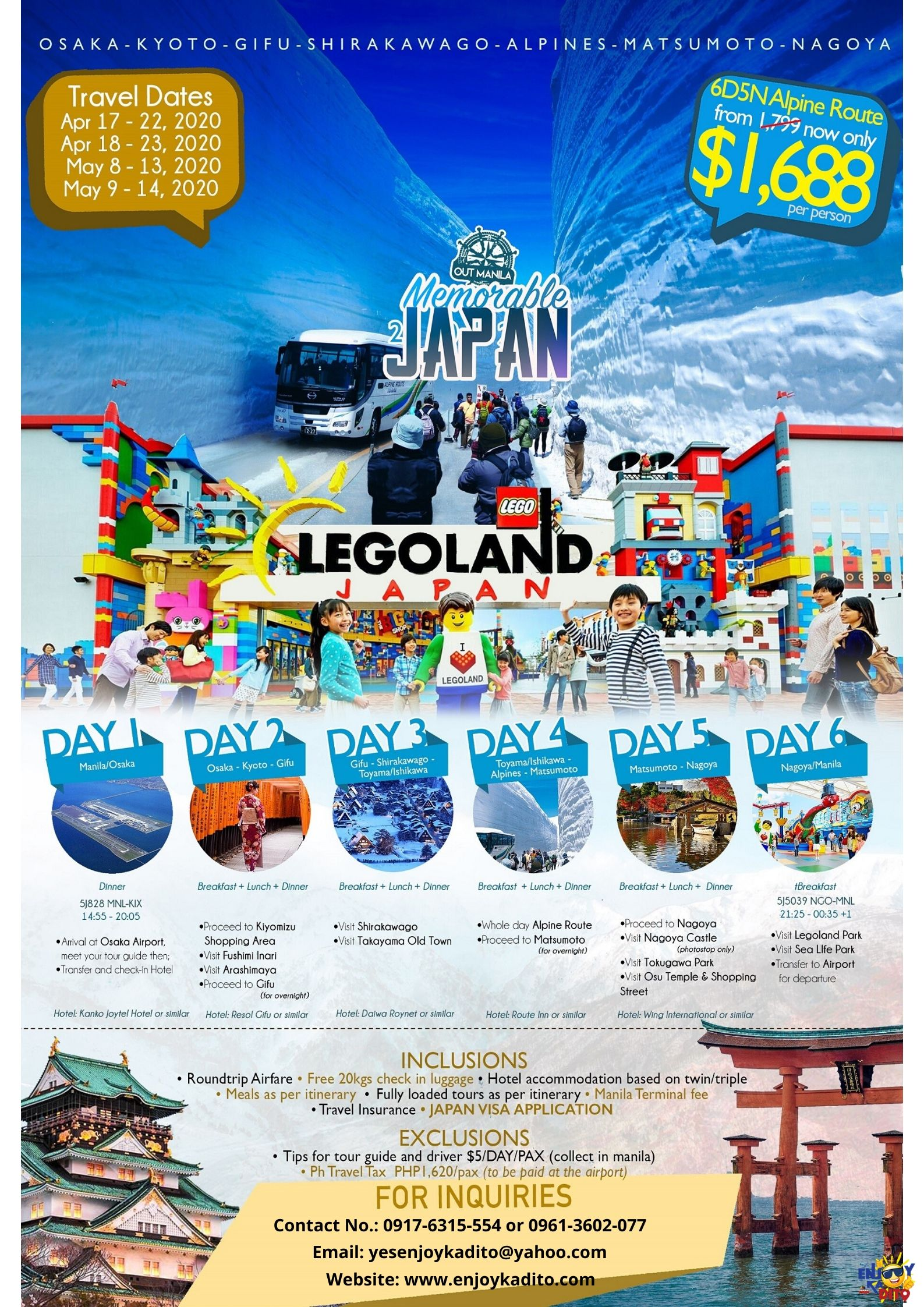 Japan Legoland by MCP Greenery Travel and Tours