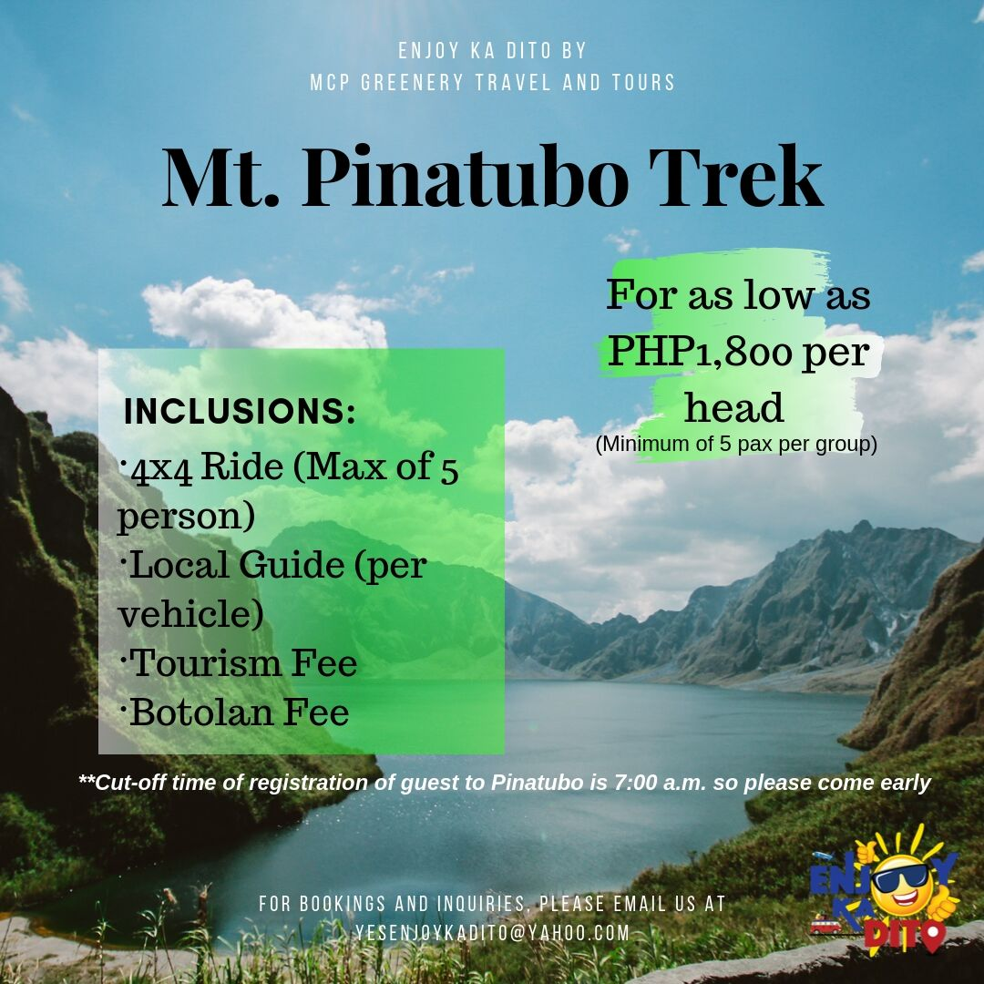 Mt. Pinatubo Trek by MCP Greenery Travel and Tours