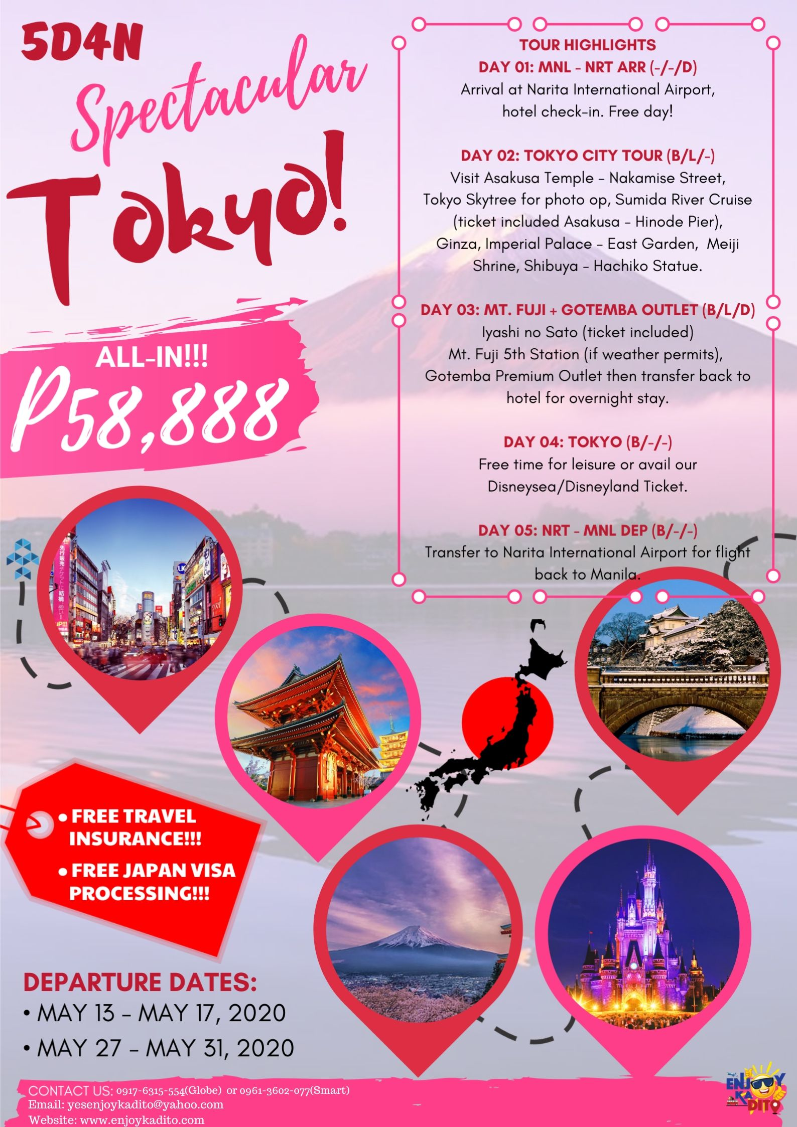 tokyo 5d4n by MCP Greenery Travel and Tours