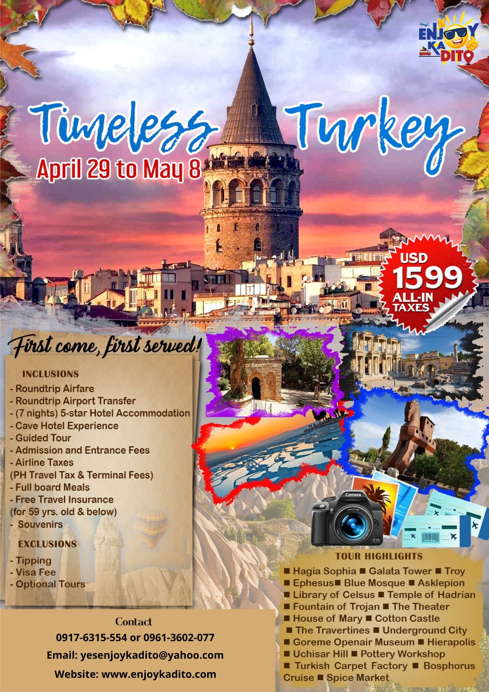 Turkey Apr. to May by MCP Greenery Travel and Tours