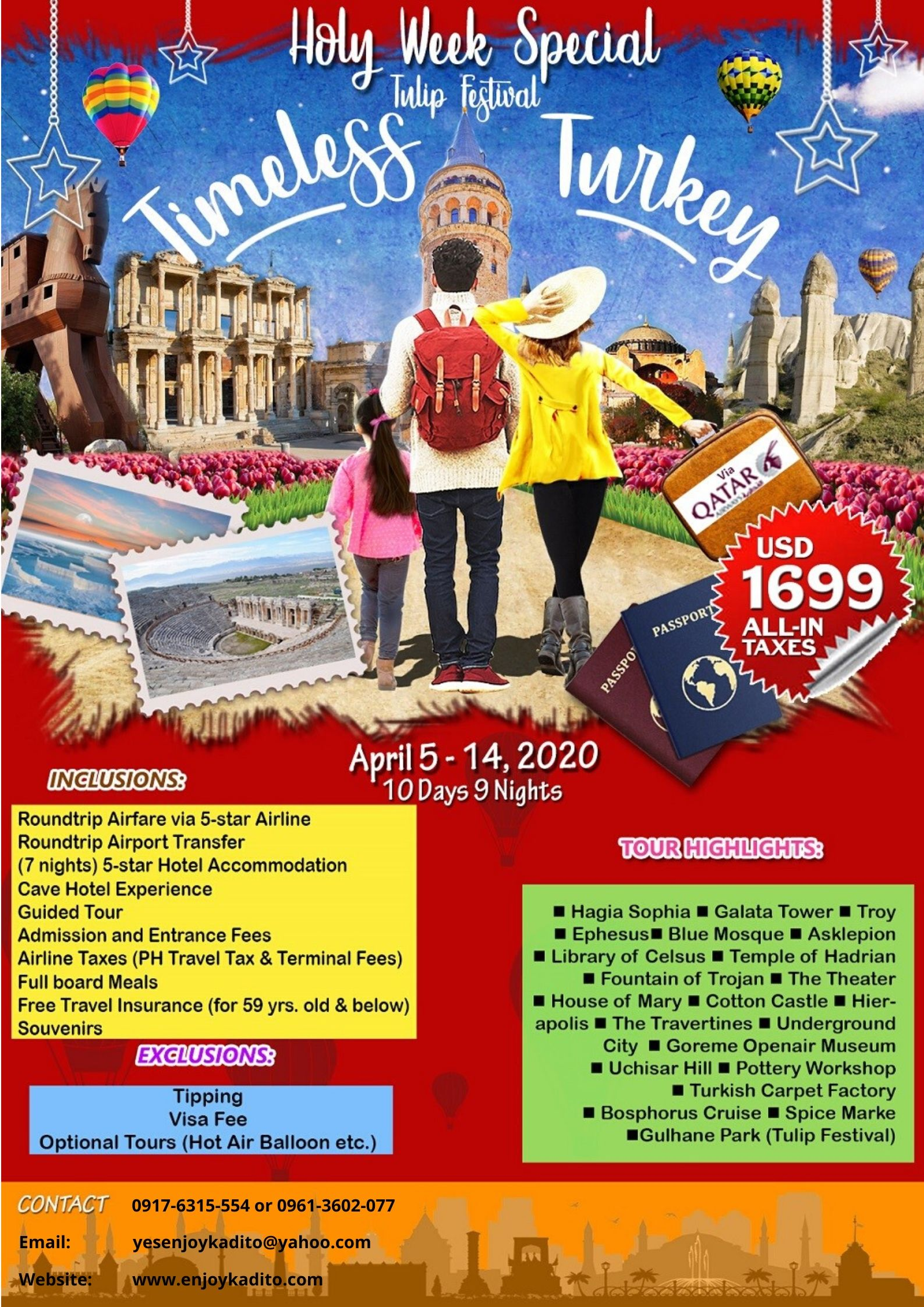 Turkey Holy Week Special by MCP Greenery Travel and Tours