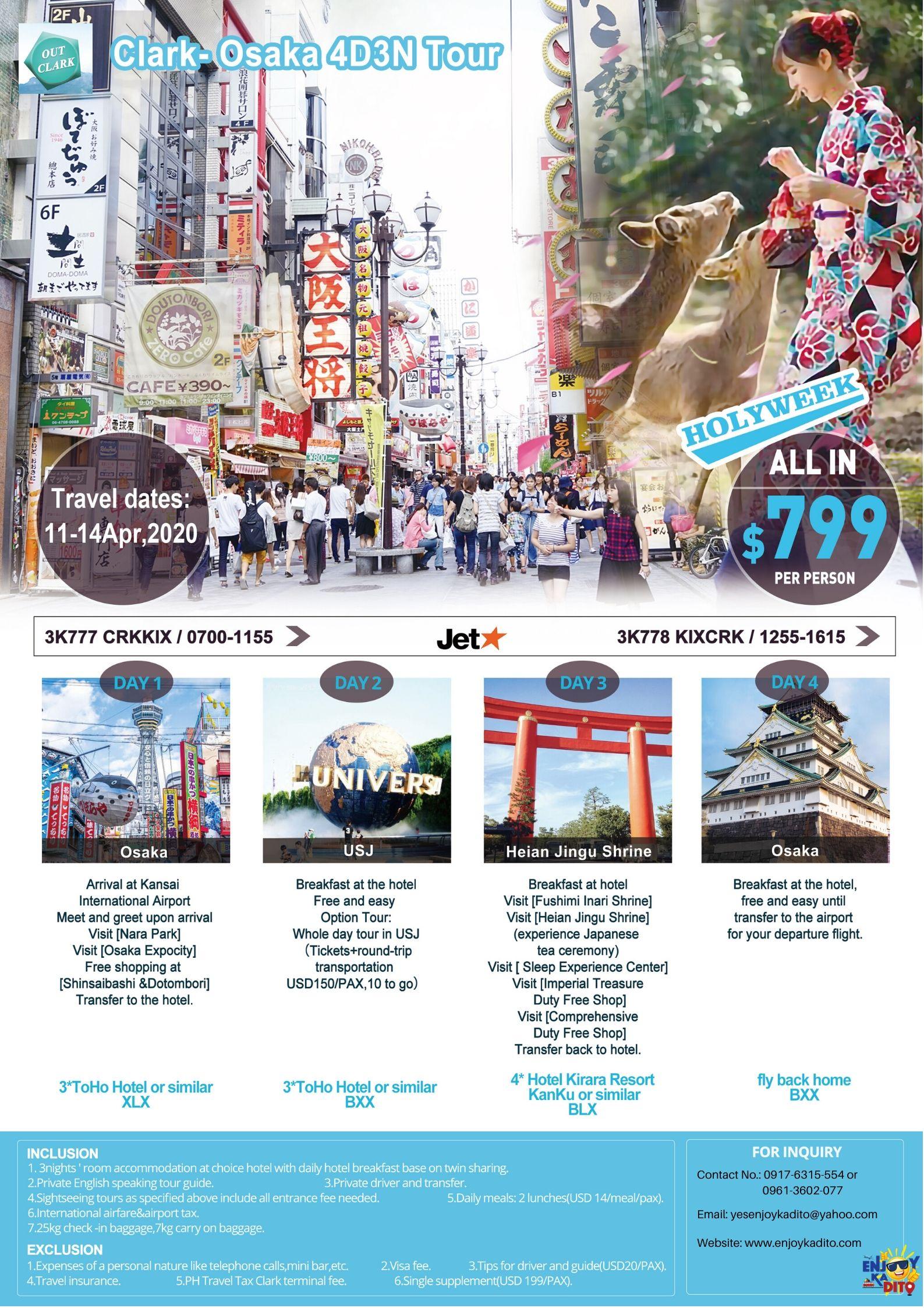 USD799,Clark-Osaka